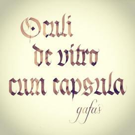 Práctica de la caligrafía gótica