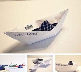 Euskal Hanky. Pañuelo de arrantzale/pescador. ©Sagarminaga Ercoreca, Jon